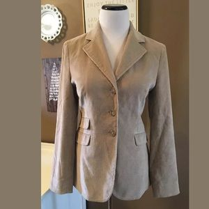 Brooks Brothers Women's Blazer Tan Brown Corduroy